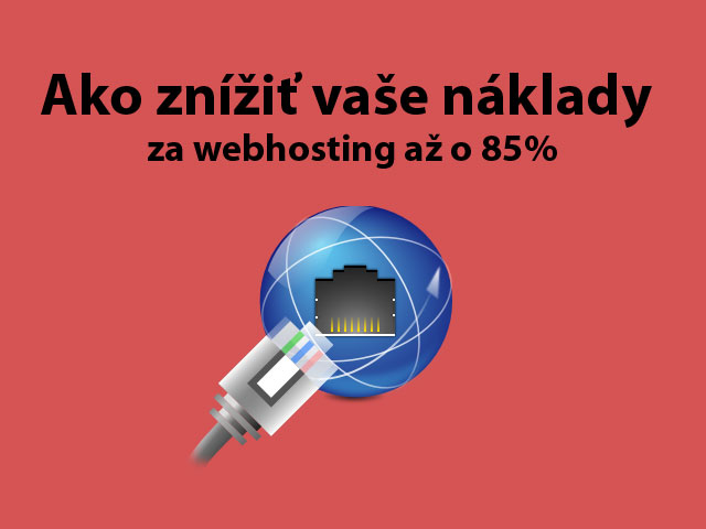 Znížiť náklady za webhosting