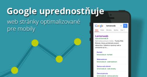 Web stránky optimalizované pre mobily